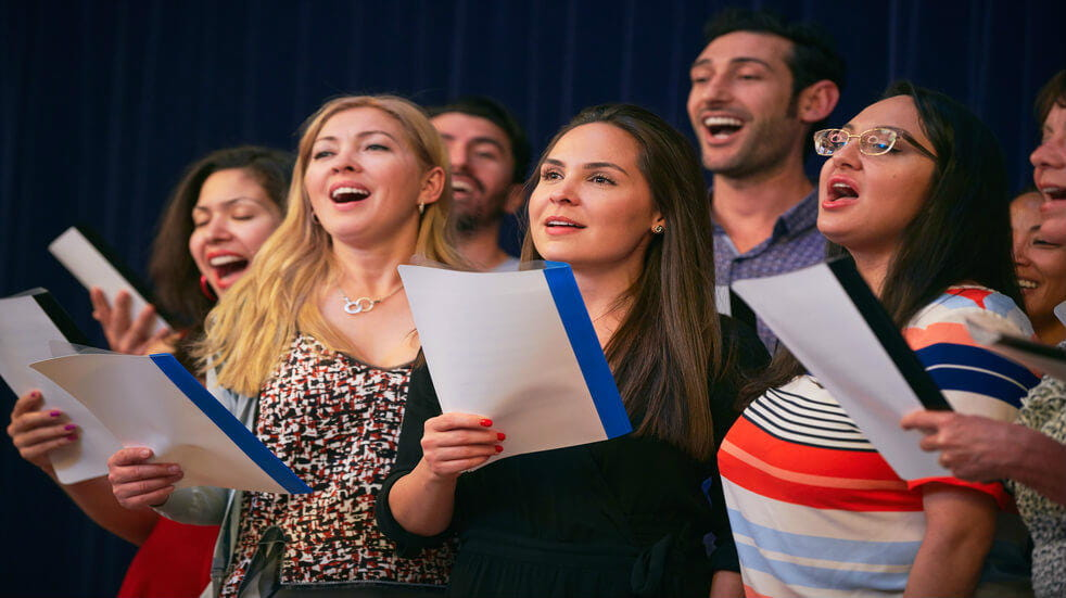 Singing in a group setting can boost your physical and mental wellbeing